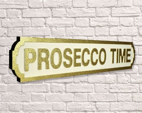Prosecco Time Gold Glitter